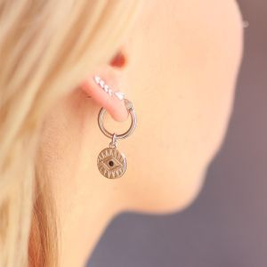 One Piece Earring - Coin Eye - Gold/Silver