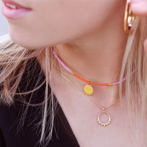 Beads & Coin Choker - Oui - Gold/Silver