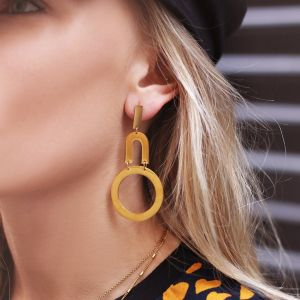 Oui Earrings - Gold/Silver