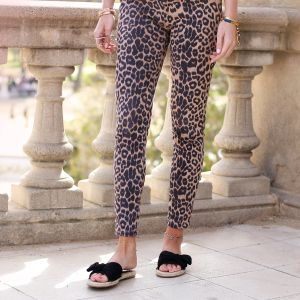 Leopard Pantalon - Brown/Black