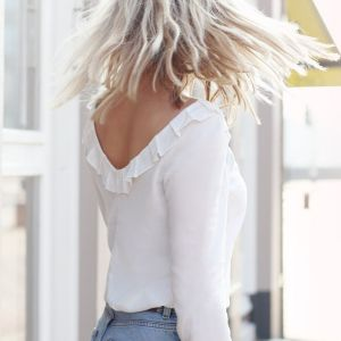 Low Back Blouse - White