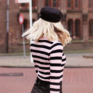 Striped Longsleeve - Pink/Black