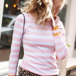 Multicolor Striped Longsleeve - Light Pink/White