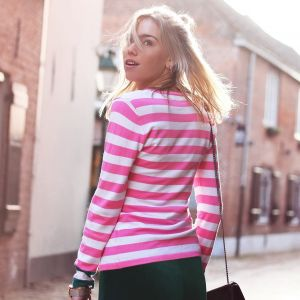 Multicolor Striped Longsleeve - Pink/White