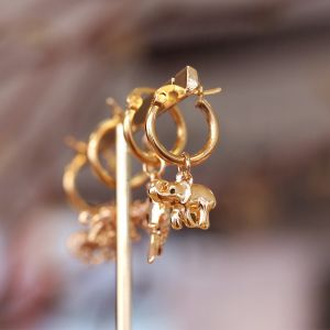 Charm Earring - Elephant - Gold/Silver