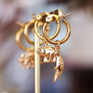 Charm Earring - Parrot - Gold/Silver