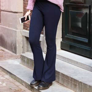 Flared Soft Pants - Dark Blue