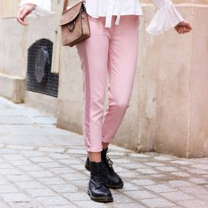 Feminine Suit Pants - Light Pink