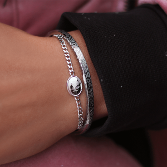 Armband Bedel Ovaal Roos