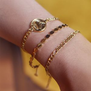 Flat Chain Coin Bracelet