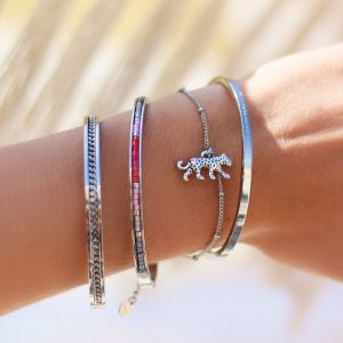 Pendant Bracelet - Leopard - Gold/Silver