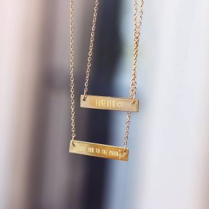 Bar Quote Necklace Forever