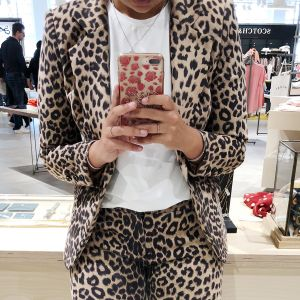 Leopard Blazer - Brown/Black