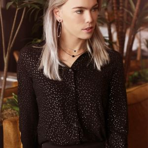 Silver Dotted Blouse
