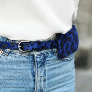 Blue Small Leopard Belt