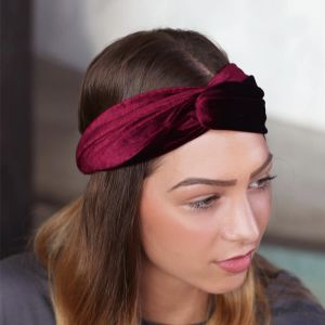Bordeaux velvet headband