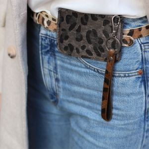 Brown Leopard Keychain