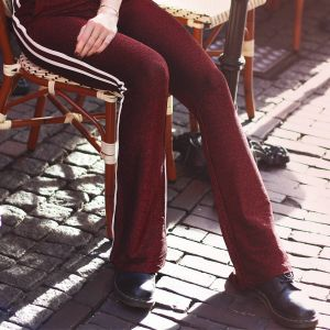 Bordeaux Glitter Pantalon