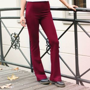 Bordeaux Flared Pantalon