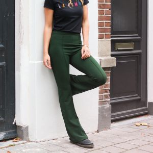 Dark Green Flared Pantalon