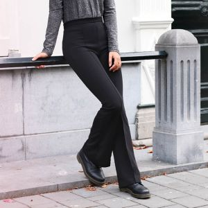 Black Flared Pantalon