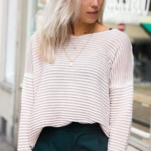 Striped Sweater - Light Pink