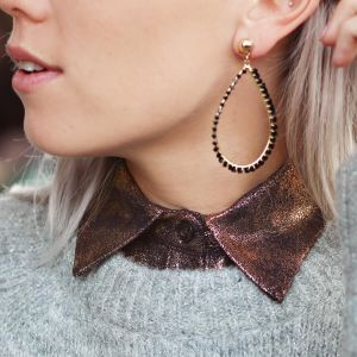 Bronze Glitter Collar