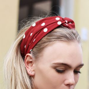 Polkadot Headband – Red