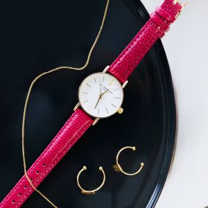 Small Vintage Watch - Fuchsia