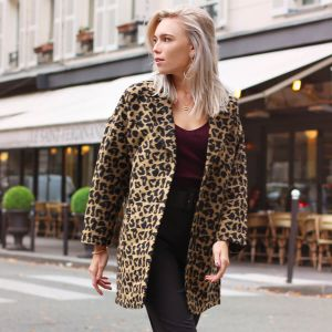 Long Brown Leopard Coat