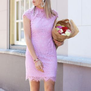 Open Back Lace Dress 2.0 - Lilac