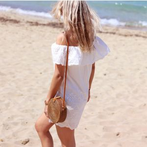 Off Shoulder Summer Dress - White