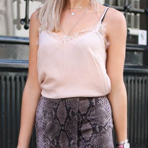 Lace Cami Top - Light Pink