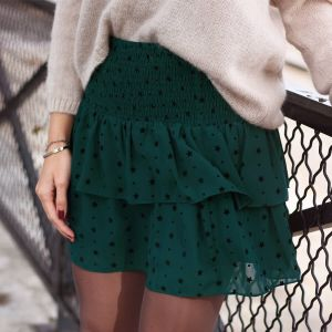 Mesh Star Skirt - Dark Green