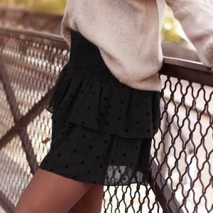 Mesh Star Skirt - Black