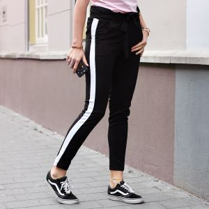 Striped Bow Pantalon