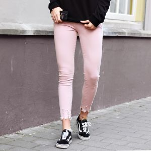 Pink Ruffle Jeans