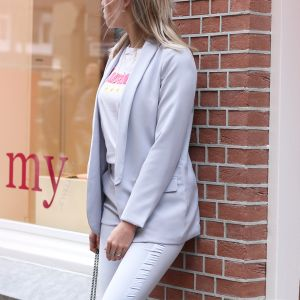 Feminine Suit Blazer - Grey