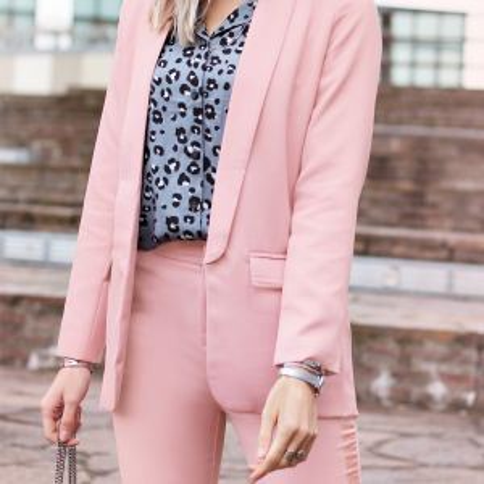 Feminine Suit Blazer - Old Pink