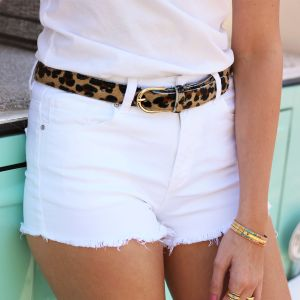 Denim Short - White