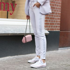 Feminine Suit Pants - Grey