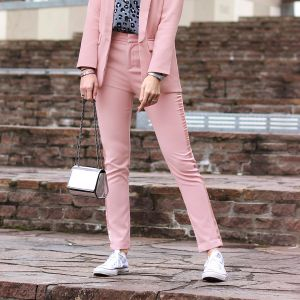 Feminine Suit Pants - Old Pink