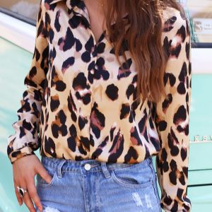 Leopard Blouse - Brown