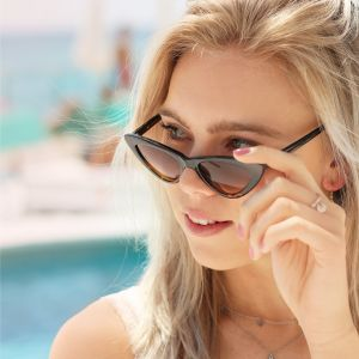 Cat Eye Sunglasses - Brown