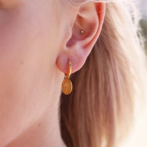 One Piece Earring - Stars & Palm Tree