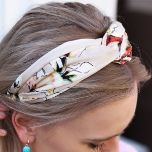 Flower Headband - Beige