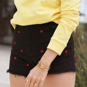 Hearts Short - Black