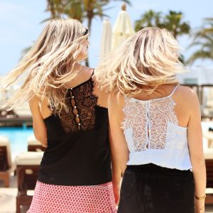 Lace Cami Top - Black