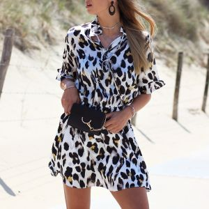 Leopard Dress - Off White