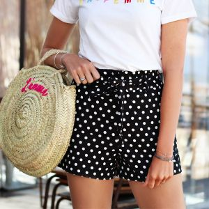 Dots short - Black/White